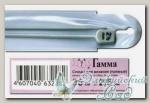 Спицы прямые для вязания Гамма (Gamma) KN2H d=2.5 мм 35 см