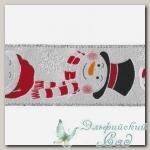 Тесьма декоративная *Blumentag* LRW-63 (001 белый/снеговики) 10 см