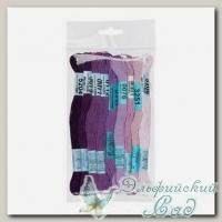Набор мулине для вышивки Gamma хлопковое 9х8 м (фиолетовый)