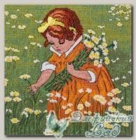 PANNA Набор для вышивания Д-1546 *Девочка в ромашках*