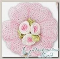 Декоративные элементы *Цветок* (розовый) FL064 5 шт