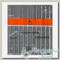 Набор крючков для вязания Пони (Pony) 44221 d=2-5 мм 13 см 10 шт