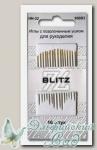 Иглы для шитья ручные с позолоченным ушком, острые BLITZ HN-32 300B3, 16 шт