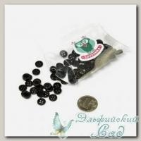 Пуговицы декоративные для скрапбукинга *Мини* (цвет - черный) 80 шт КЛ21643