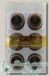 Крышки декоративные металлические для скрапбукинга 6620 *Винтаж* 6 шт