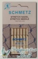 Иглы для бытовых швейных машин стретч Schmetz № 65, 5 шт