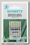 Иглы для бытовых швейных машин микротекс (особо острые) Schmetz №100, 5 шт
