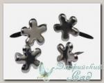 Клипсы (брадс) *Цветок серебристый* 7835322 Rayher, d=4 мм, 100 шт