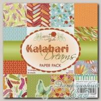 Набор бумаги для скрапбукинга Wild Rose Studio PP019 *Мечты о Калахари* 36 листов