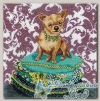 RTO Набор для вышивания M266 *Интерьерные собачки - Чихуахуа рыжий*