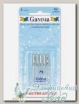 Иглы для швейных машин бытовых GAMMA NU №75 универсальные 5 шт