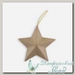 Заготовка для декорирования *Звезда* PAM-020 Love2Art, 10х4,5 см, 2 шт