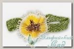 Декоративные элементы *Цветок* (желтый) FL063 10 шт