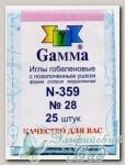 Иглы для вышивания гобеленовые Gамма N-359, №28, 25 шт