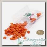Пуговицы декоративные для скрапбукинга *Мини* (цвет - оранжевый) 100 шт КЛ21619