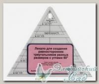 Лекало для создания равносторонних треугольников 60 градусов Hemline NL4169