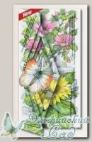 Набор для создания открытки с объемным рисунком *Бабочка и подсолнухи*, Reddy