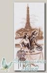 Канва с нанесенным рисунком *Набережная Сены* Матренин Посад 1495