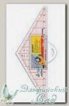 Линейка-треугольник 120 градусов Hemline NL4175 12 inch (31 см)