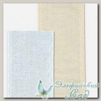 Канва-лента для вышивки кремовая с кремовой кромкой Gamma KT-70 70 мм (метраж) 10 см