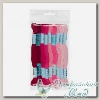 Набор мулине для вышивки Gamma хлопковое 9х8 м (бордово-розовый)
