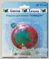 Подушечка для игл *Помидор* Gamma, 5,5 см