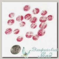 Пуговицы декоративные *Шотланка* (цвет - розовый) 40 шт JB C15 20L-24L