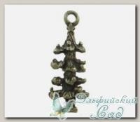 Подвески металлические *Елка рождественская* (античная бронза) CN-2100423 1 шт