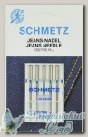 Иглы для бытовых швейных машин для джинсы Schmetz № 70, 5 шт