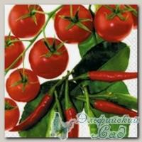 Салфетка для декупажа трехслойная *Красные овощи* 33 х 33 см 1 шт