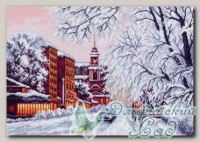 Канва с нанесенным рисунком *Зимний город*, Матренин Посад 1488