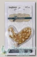 Жемчужные сердечки (золотые) 60 шт SCB0717618