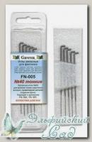 Игла для валяния (фелтинга) запасные GAMMA FN-005 (тонкие №40) 5 шт