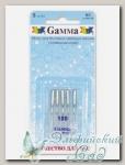 Иглы для швейных машин бытовых GAMMA NU №100 универсальные 5 шт