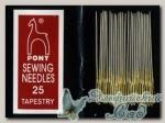 Иглы для вышивки гобеленовые Pony 5163 №25, 25 шт
