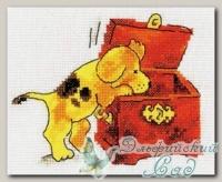 4-051 Набор для вышивания *Щенок и сундук*, Кларт