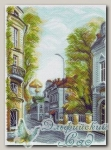 Канва с нанесенным рисунком *Гагаринский переулок* Матренин Посад 1509