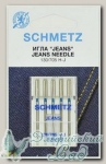 Иглы для бытовых швейных машин для джинсы Schmetz № 100, 5 шт