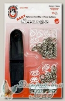 Кнопки рубашечные *Baby* KOH-I-NOOR (серый), d=9.7 мм, 15 шт