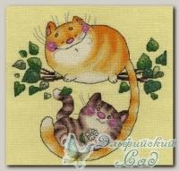 КЛАРТ Набор для вышивания 8-185 *Котята на дереве*