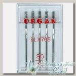 Иглы ORGAN для бытовых швейных машин EL x 705 № 90, 5 шт