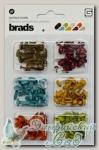 Набор брадс разноцветных серия *Pyrus* MET2874 Basic Grey 180 шт
