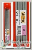 Чулочные спицы Visantia VT5 d=6 мм 20 см