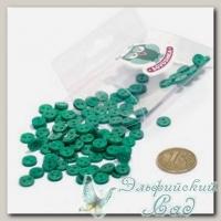 Пуговицы декоративные на два прокола *Мини* (цвет - зеленый) 100 шт КЛ21624
