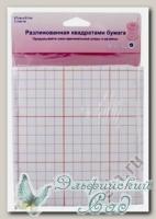 Разлинованная квадратами бумага Hemline 751 3 листа