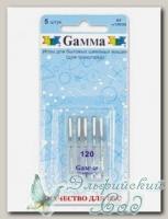 Иглы для швейных машин бытовых GAMMA NT №120 для трикотажа 5 шт