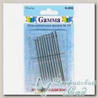 Иглы швейные ручные для штопки ассорти №3/9 Gамма N-006, 10 шт