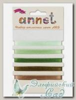 Набор атласных лент Annet ARS (цвет - 008 зеленый)