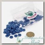 Пуговицы декоративные для скрапбукинга *Мини* (цвет - синий) 80 шт КЛ21640