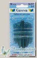 Иглы для кожи №3-7 Gамма N-217, 16 шт